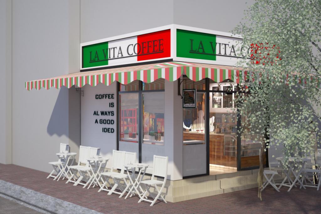 Thiết kế nội thất quán Cafe Lavita