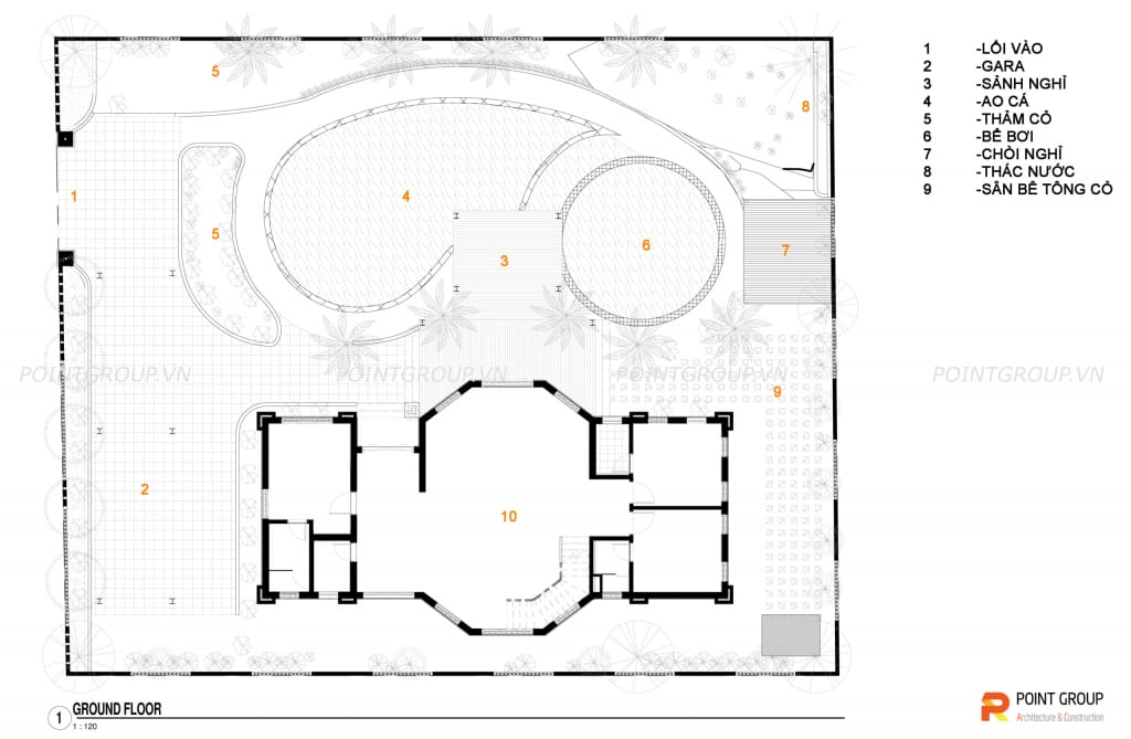 Thiết kế biệt thự nhà anh Thắng - Đồ Sơn, Hải Phòng