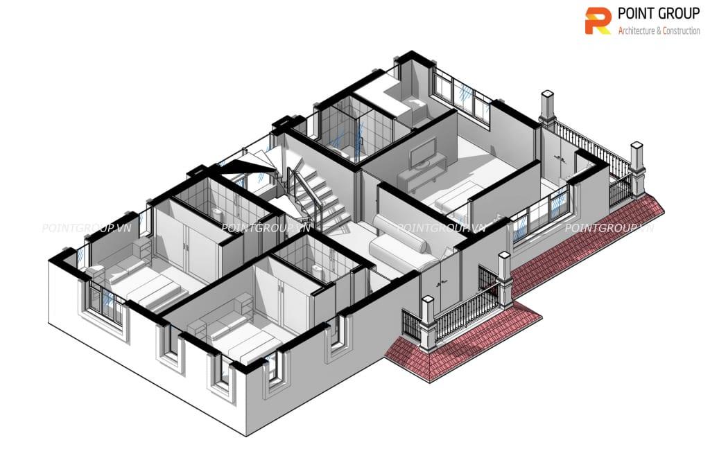 Mẫu thiết kế nhà Chị Hoa - Bắc Ninh