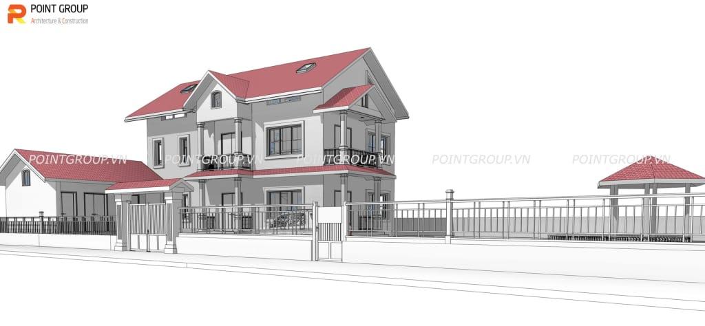 Thiết kế nhà chị Hoa - Bắc Ninh
