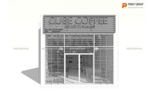 Thiết kế cửa hàng phục vụ đồ uống - Cube cafe