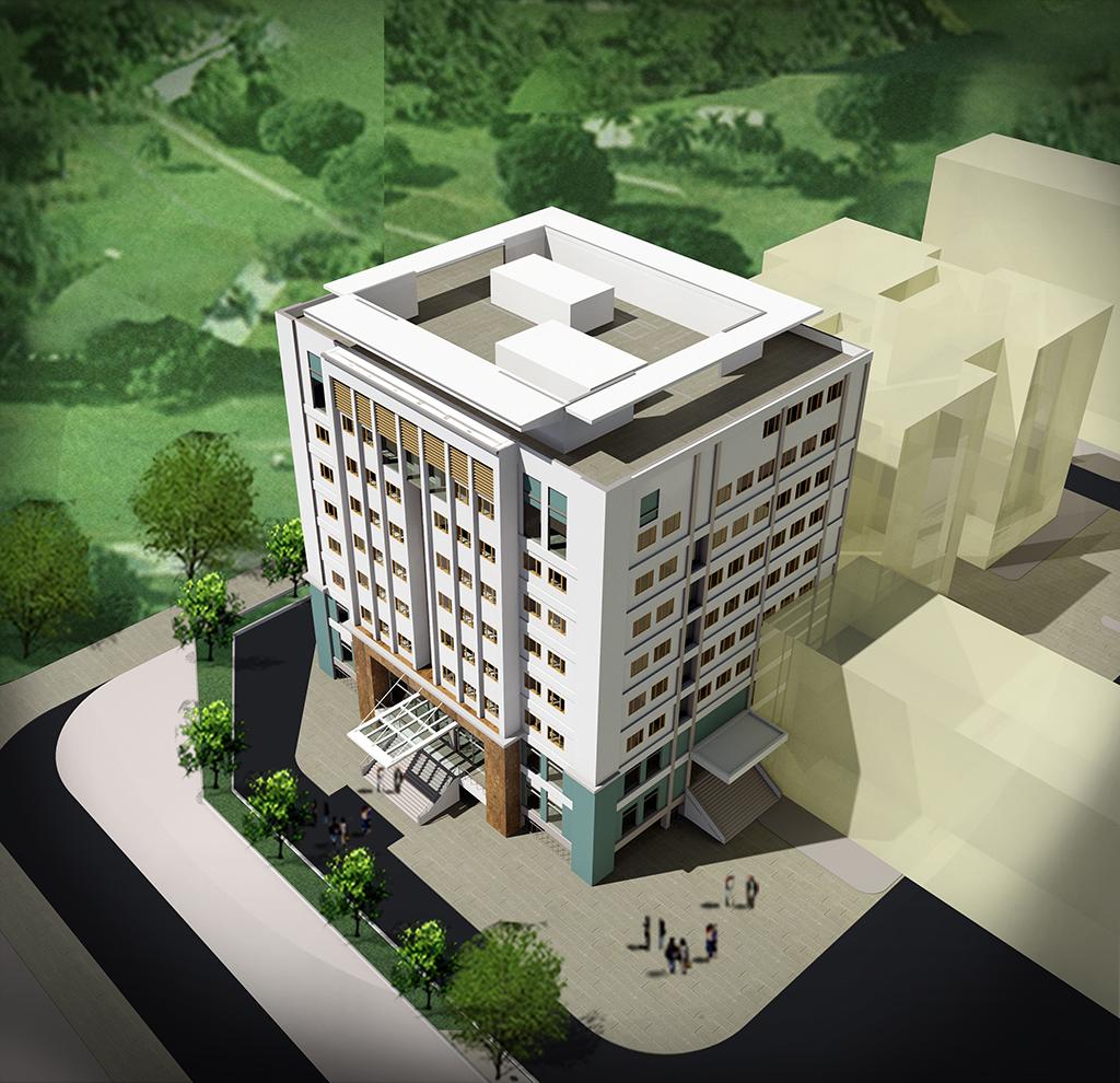 Nhà 9 tầng đại học Điện Lực