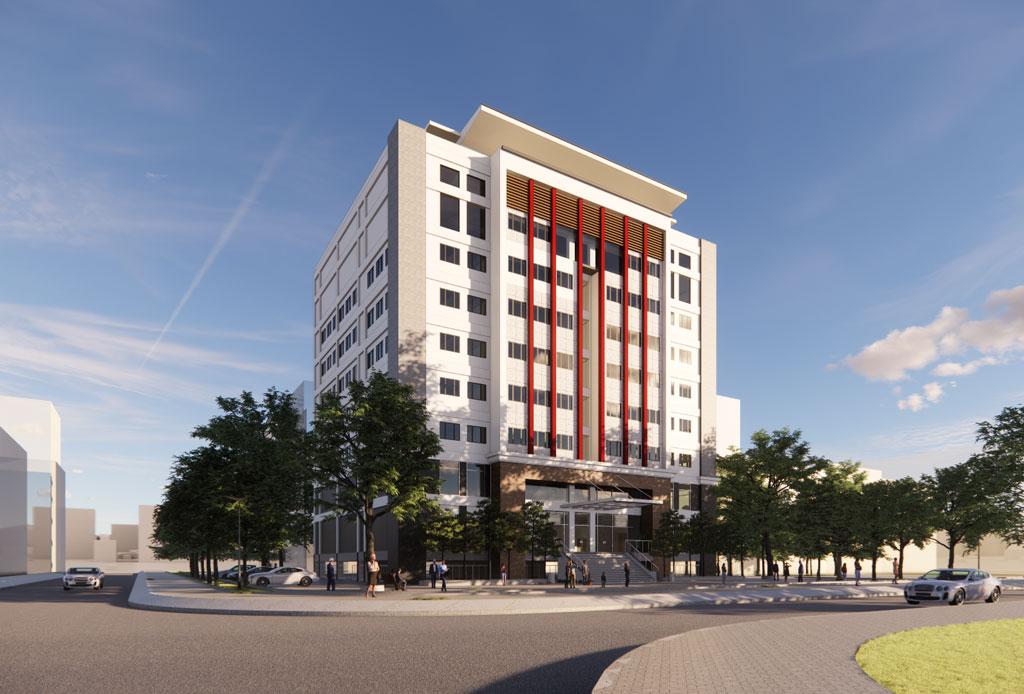 Tư vấn thiết kế nhà 9 tầng đại học Điện Lực
