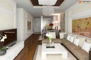 Thiết kế nội thất chung cư - anh Thanh