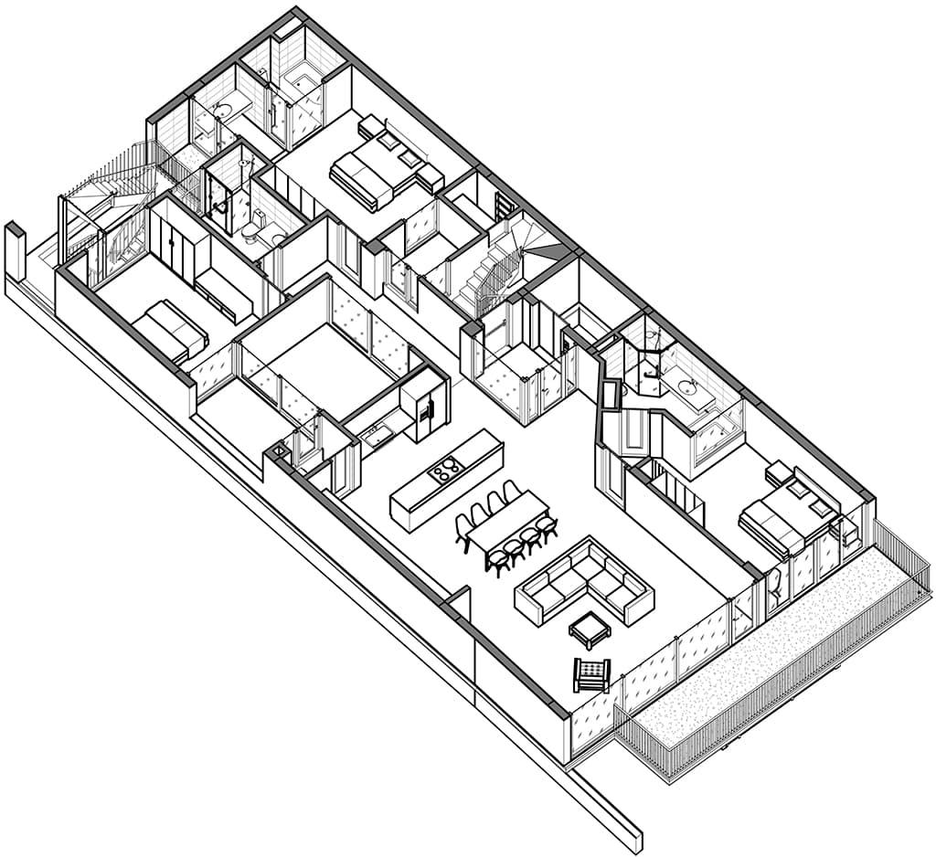 Công trình nhà ở kết hợp văn phòng cho thuê 38 Tô Ngọc Vân