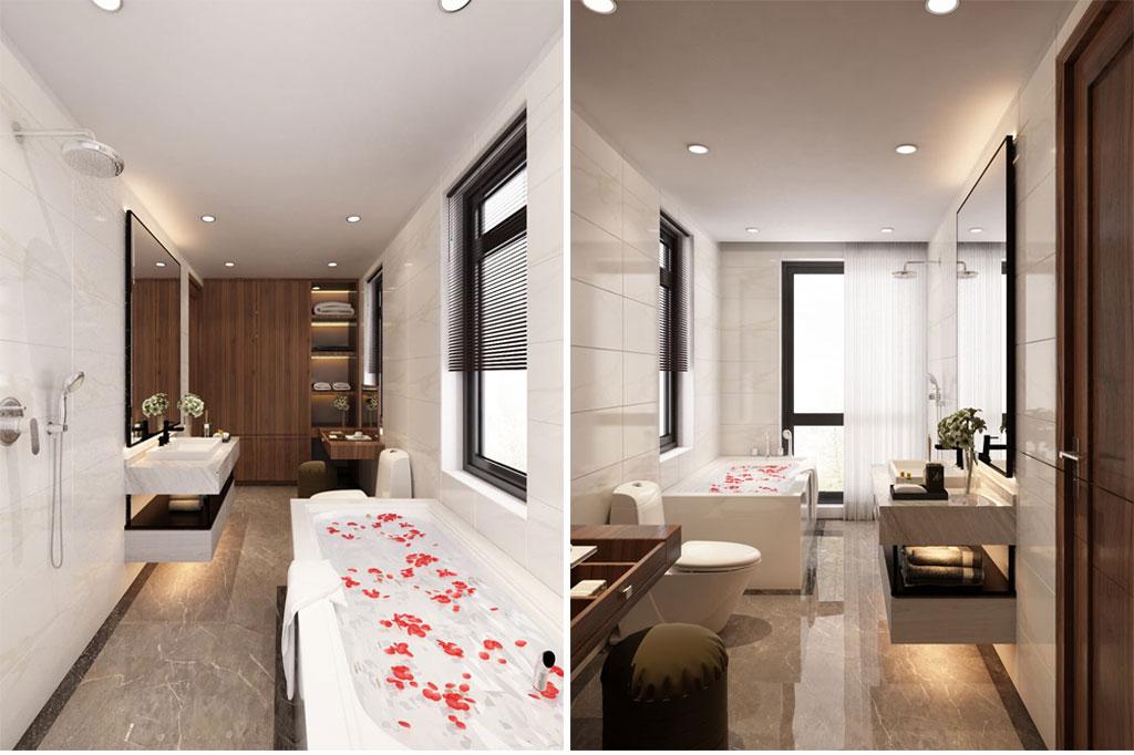 Thiết kế nội thất phòng tắm khoa học, tối ưu về không gian và công năng sử dụng