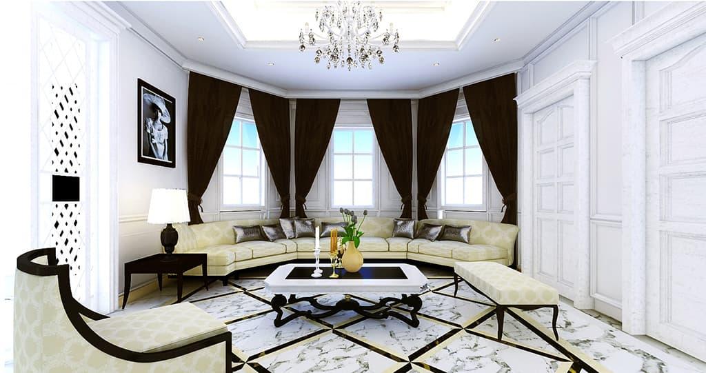 Thiết kế nội thất phòng khách biệt thự nhà Mr Bang - Thái Nguyên