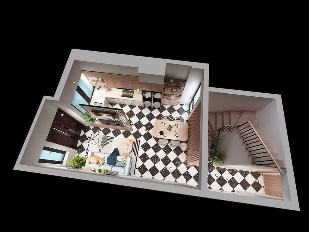 Thiết kế nội thất nhà Mr Lam