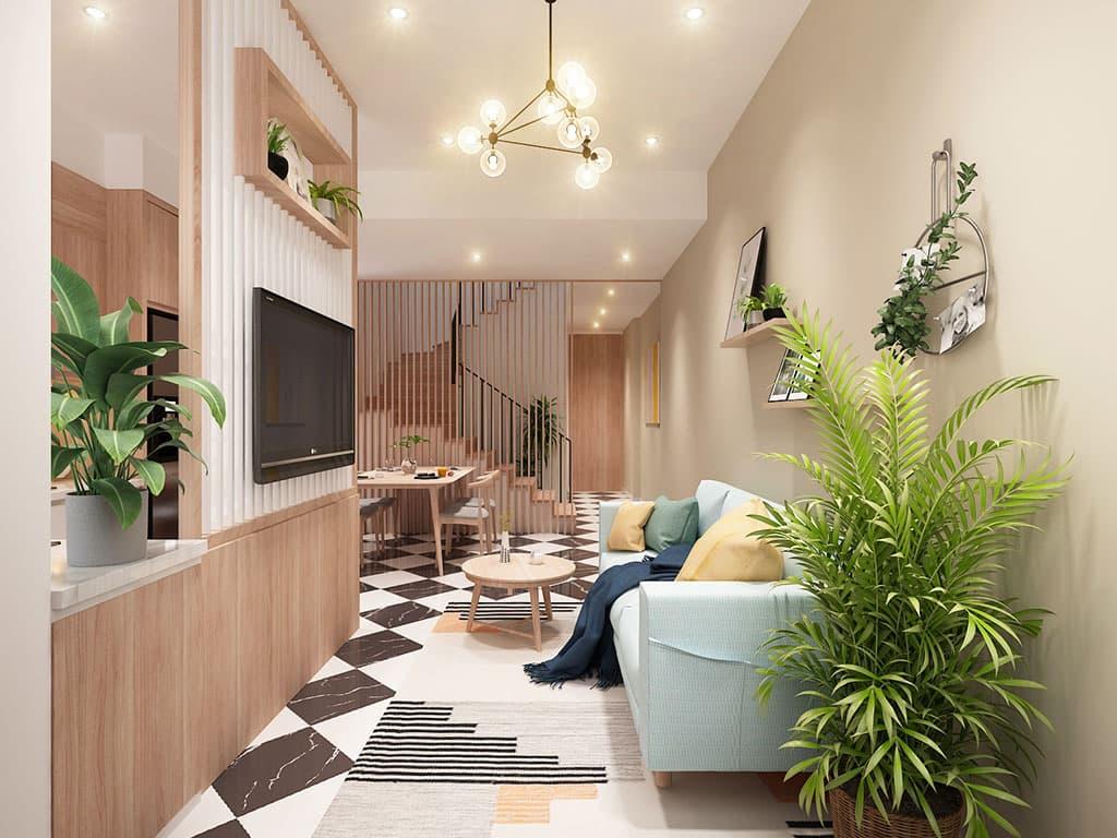 Thiết kế nội thất phòng khách phong cách hiện đại