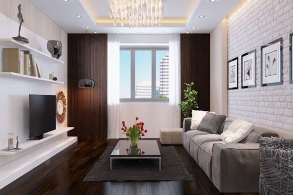 Thiết kế nội thất căn hộ chung cư Mr Long