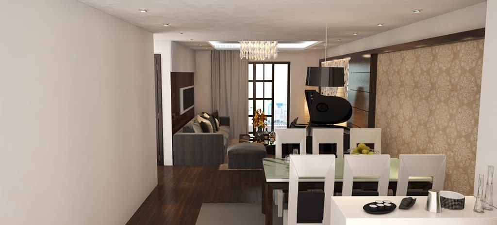 Thiết kế nội thất căn hộ chung cư nhà Mr Ngu