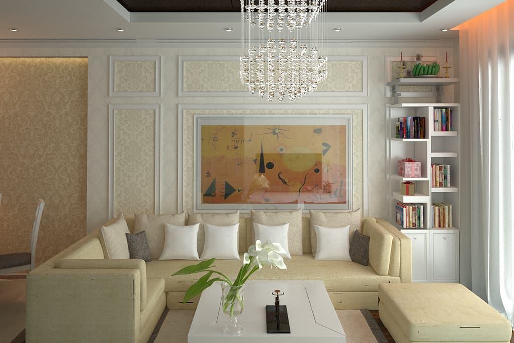 Thiết kế nội thất căn hộ chung cư nhà Mr Thanh