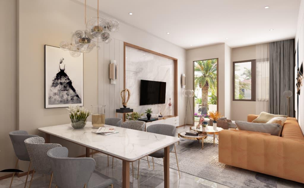 Thiết kế nội thất phòng khách nhà Mr Hai - Hải Dương