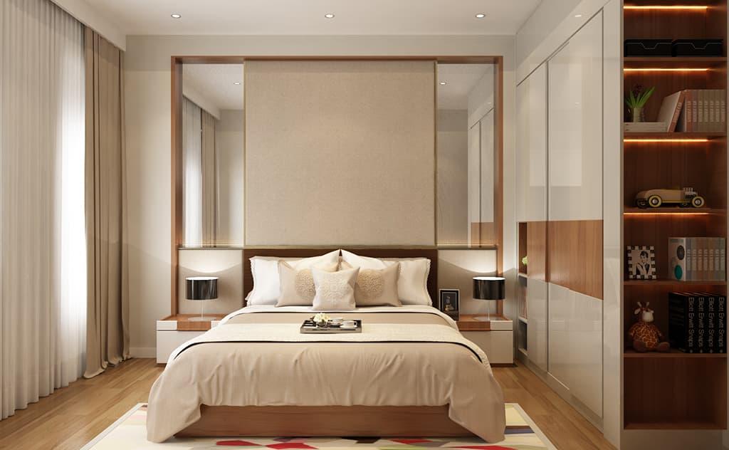 Thiết kế nội thất phòng ngủ nhà Mr Hai - Hải Dương