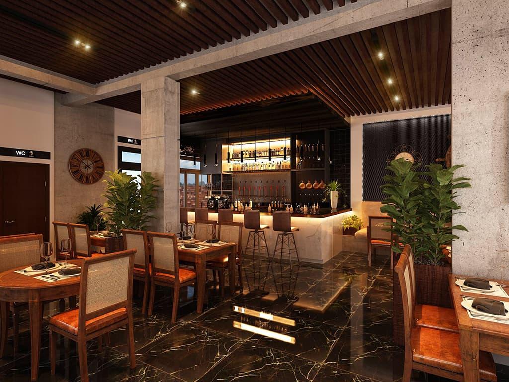 Thiết kế nội thất quán Cafe phong cách Italia