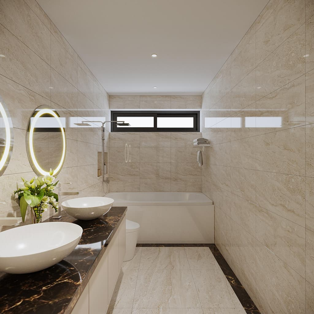 Nội thất phòng tắm biệt thự nhà Ms May